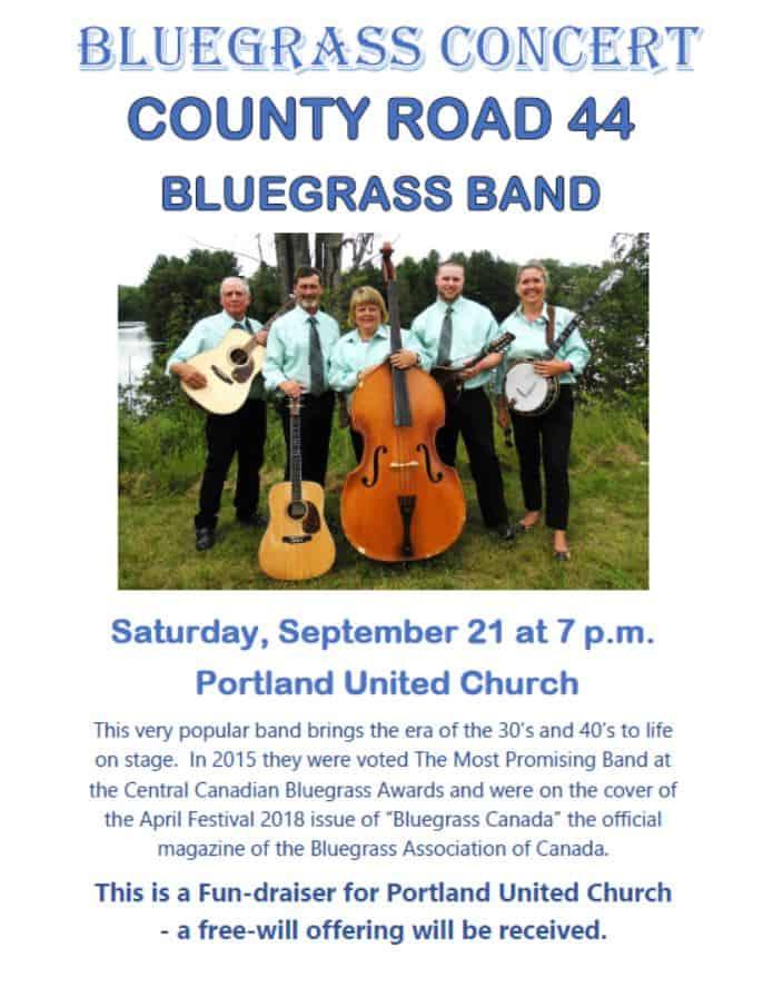 Blue Grass Concert - Portland United Church @ Portland United Church   Portland   Ontario   Canada