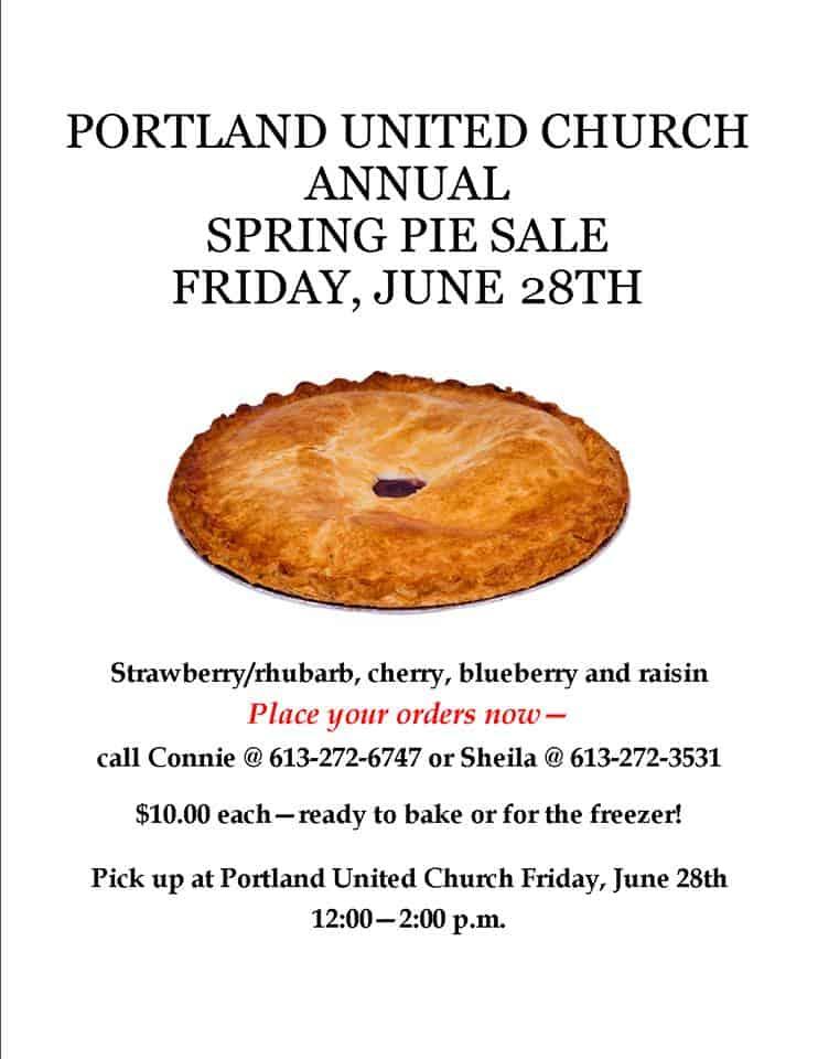 Portland United Church Women - Spring Pie Sale @ Portland United Church