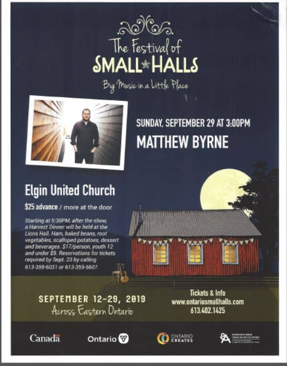 Small Halls Concert - Hosted by Elgin United Church @ Elgin United Church